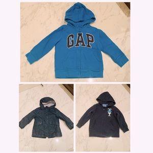 3 Kids' Raincoat/hoodies for